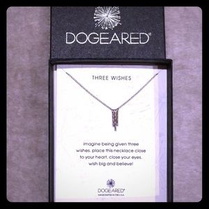 "18"" Dogeared Three Wishes Necklace silver tone"